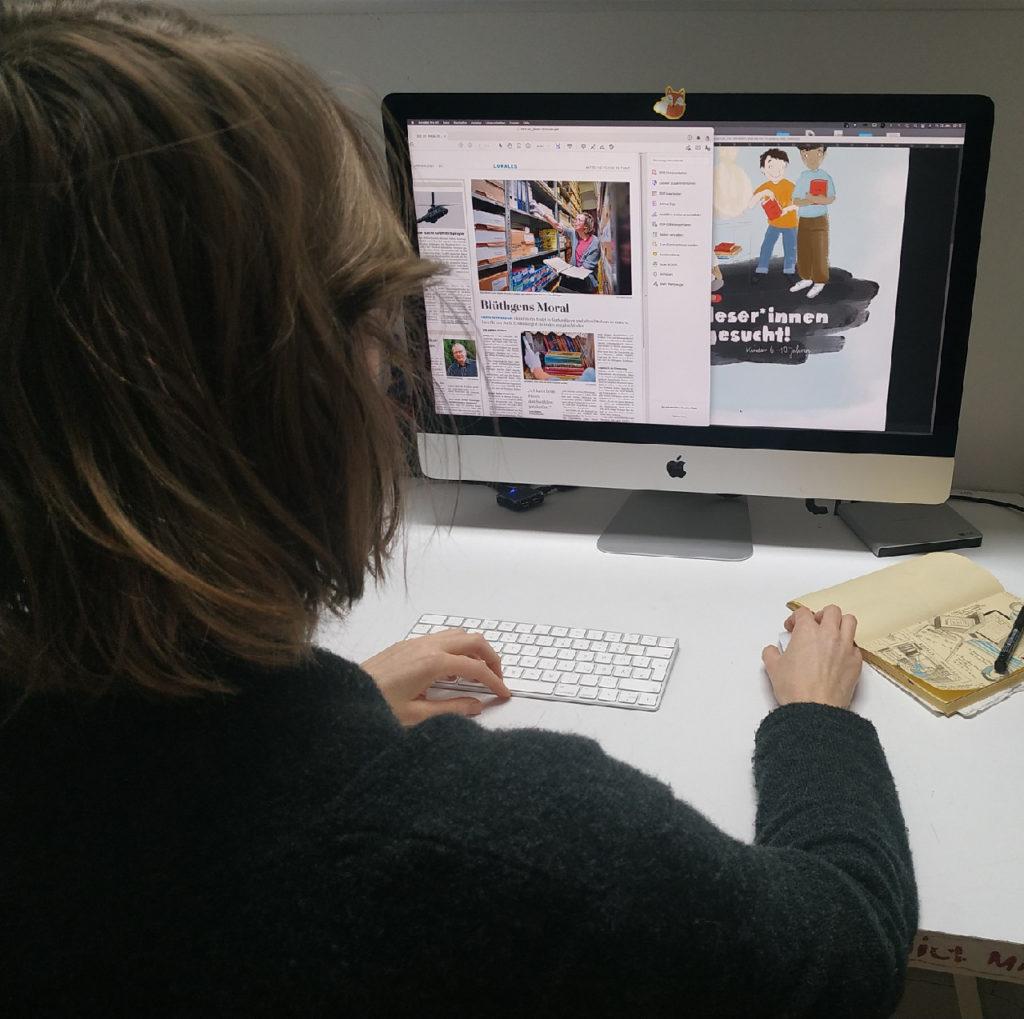 Lucie Goepfert reading press